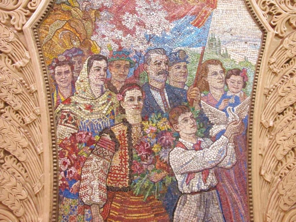 Métro russe, mosaïque Lénine
