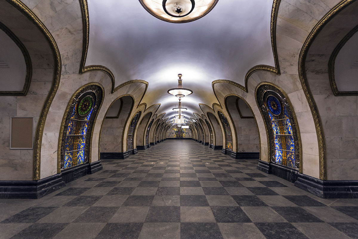 Metro MOSCOU Line5_Novoslobodskaya