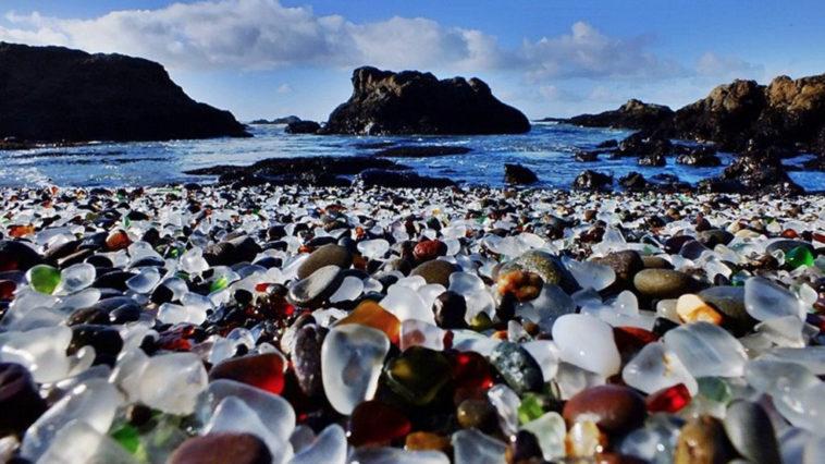 plage de verre, californie,2