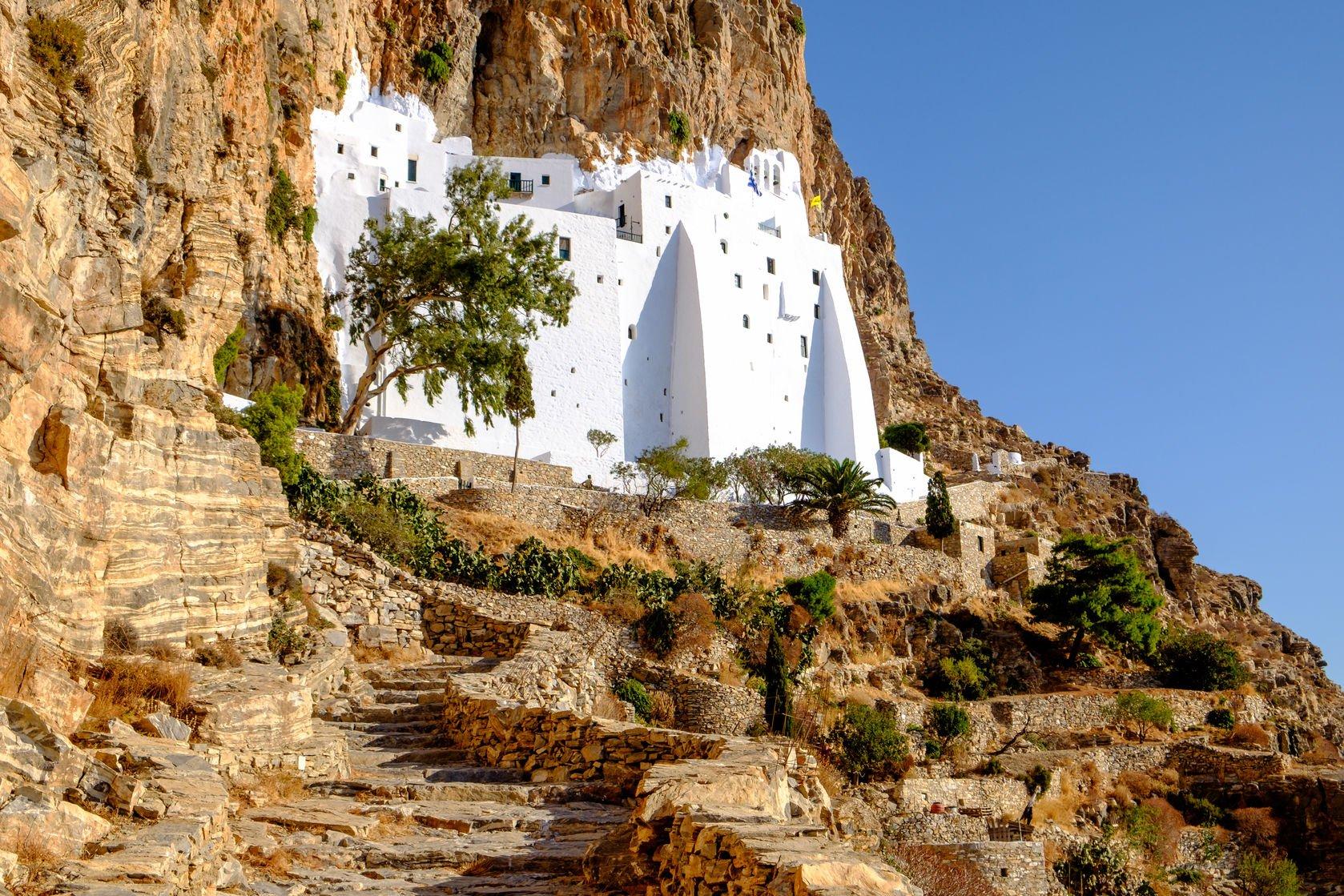 Amorgos, Monastère, cyclades
