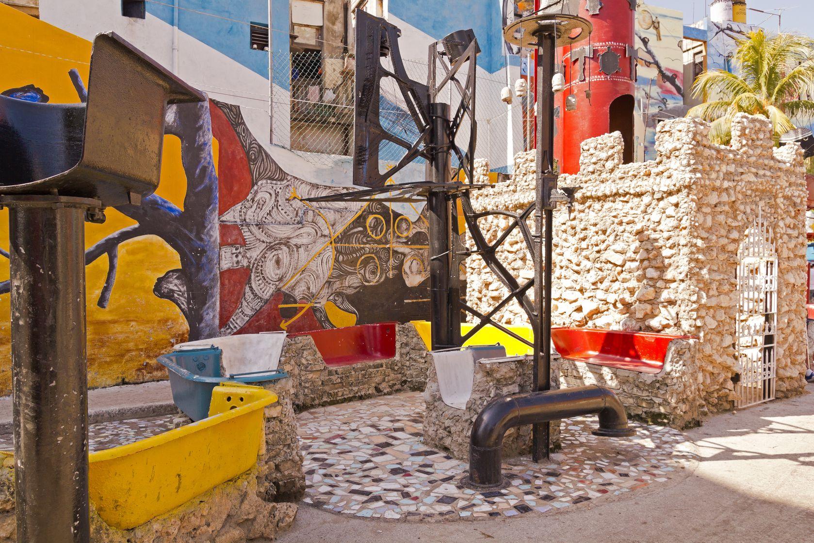 Cuba, La Havane, ruelle Hamel, street art