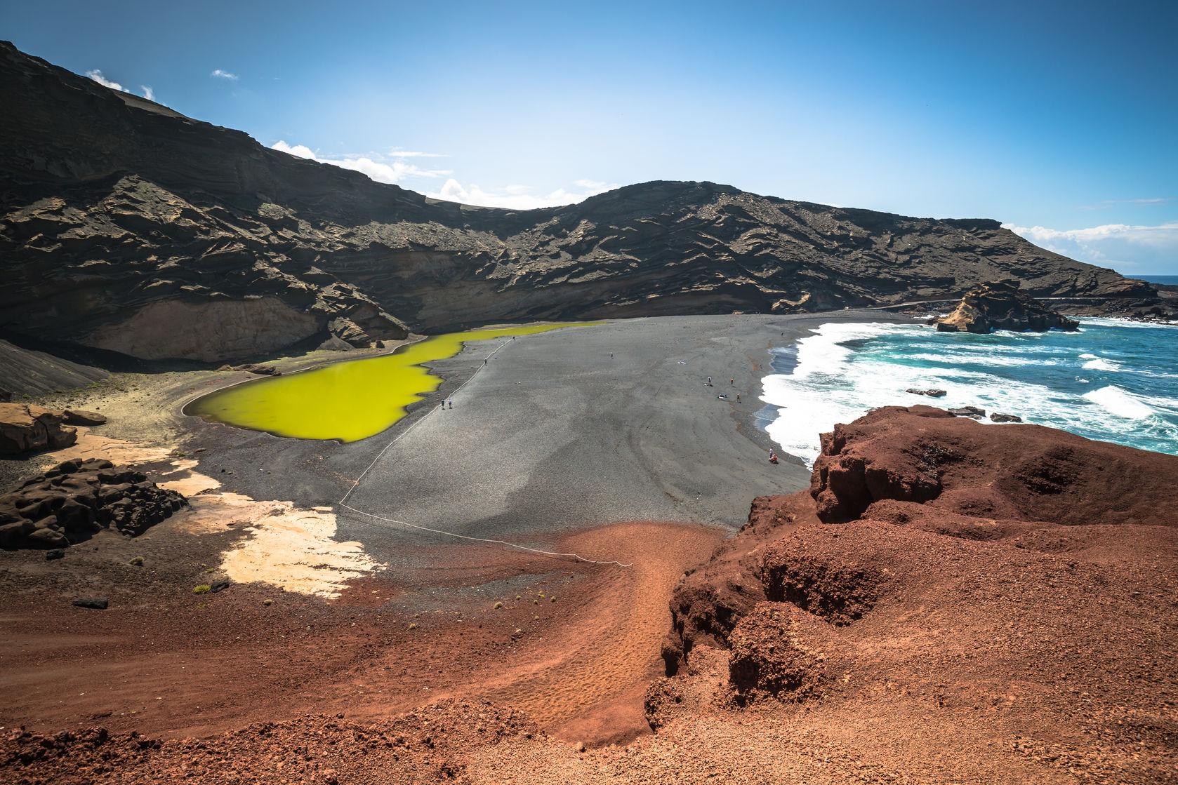 El golfo, lagon vert volcan