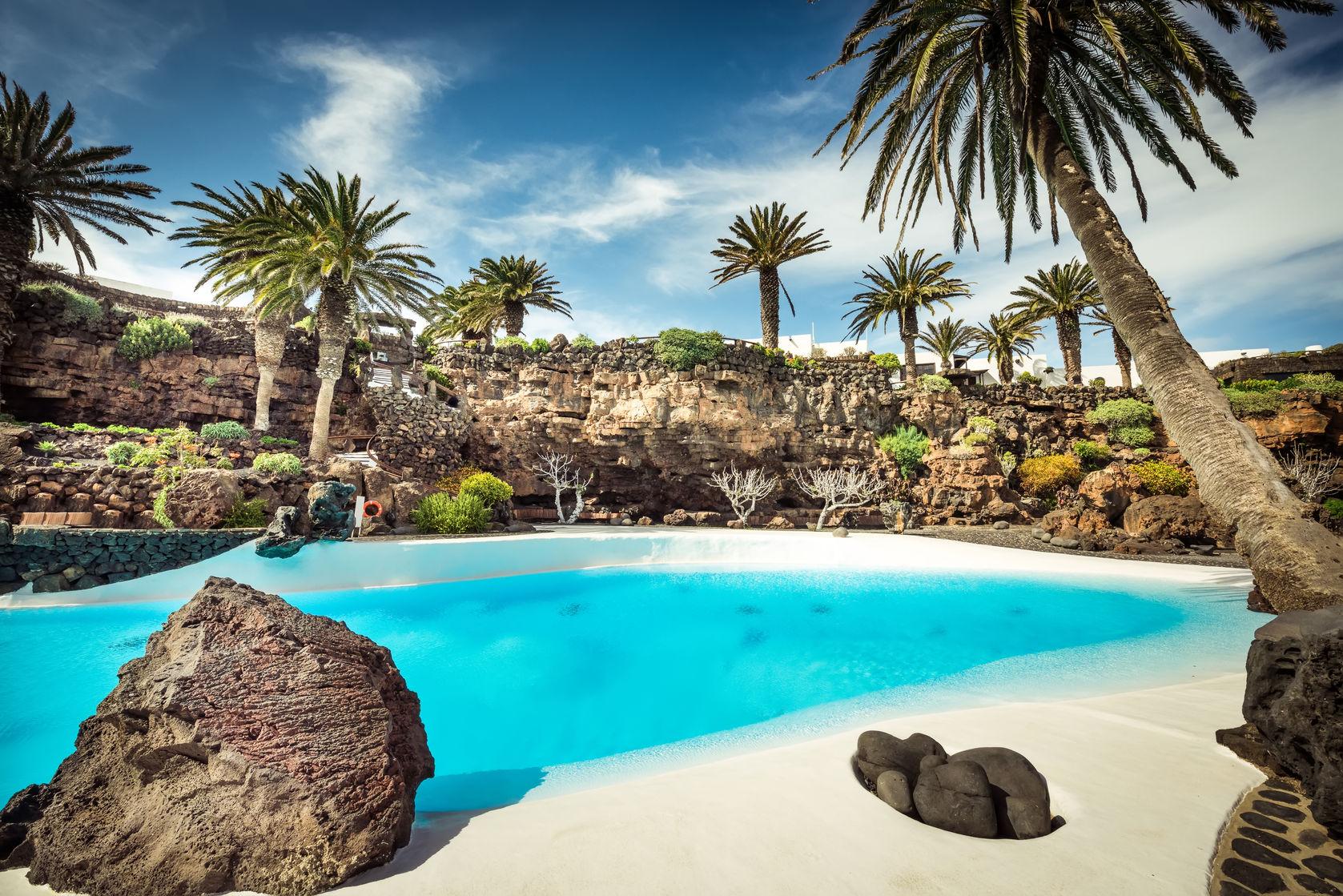 Jameos del Agua, Lanzarote, piscine extérieure