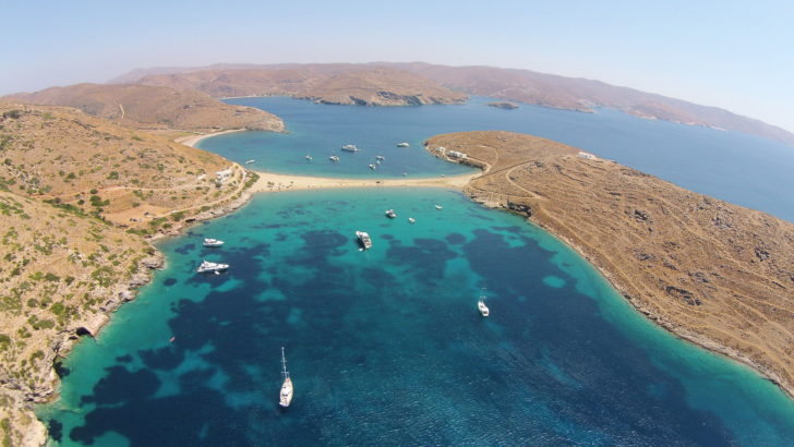 Kythnos-plage-double-face
