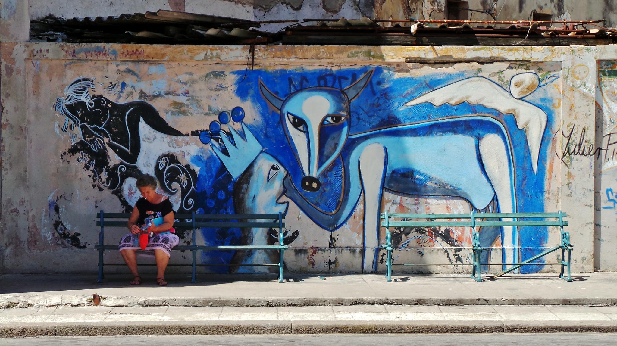 La Havane, Cuba, street art