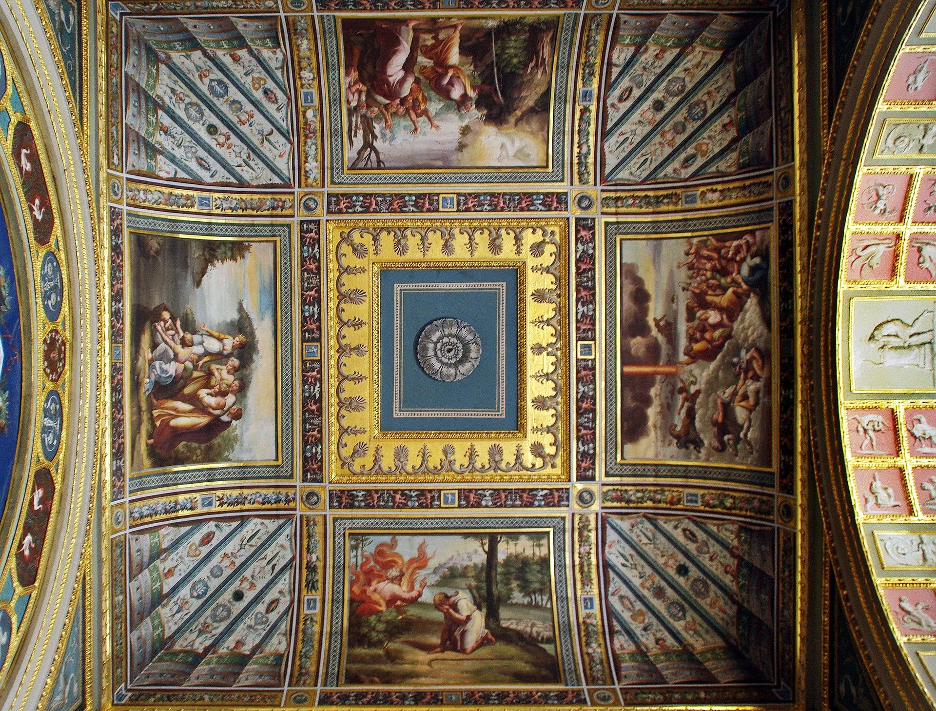 Musée Russie Ermitage plafond 2