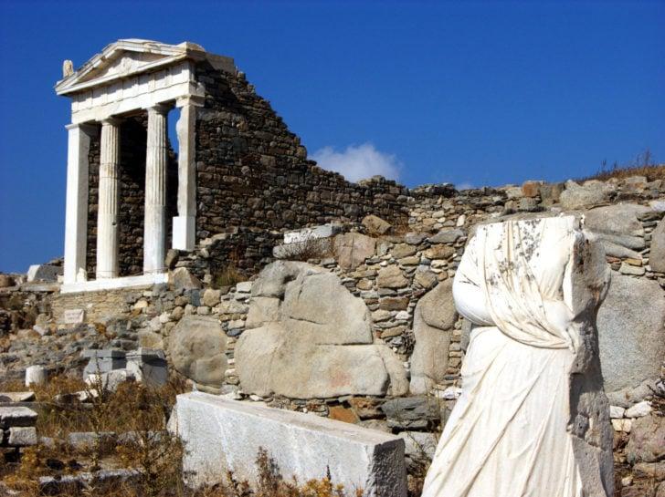 delos, site archéologique, cyclades
