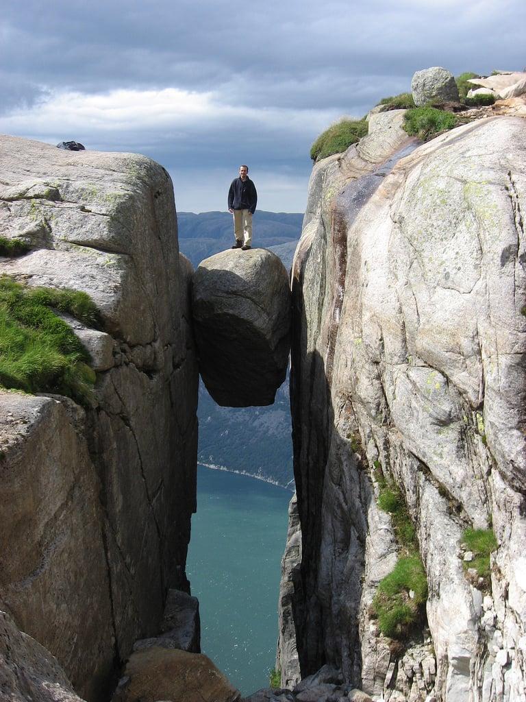 Kjeragbolten en Norvège