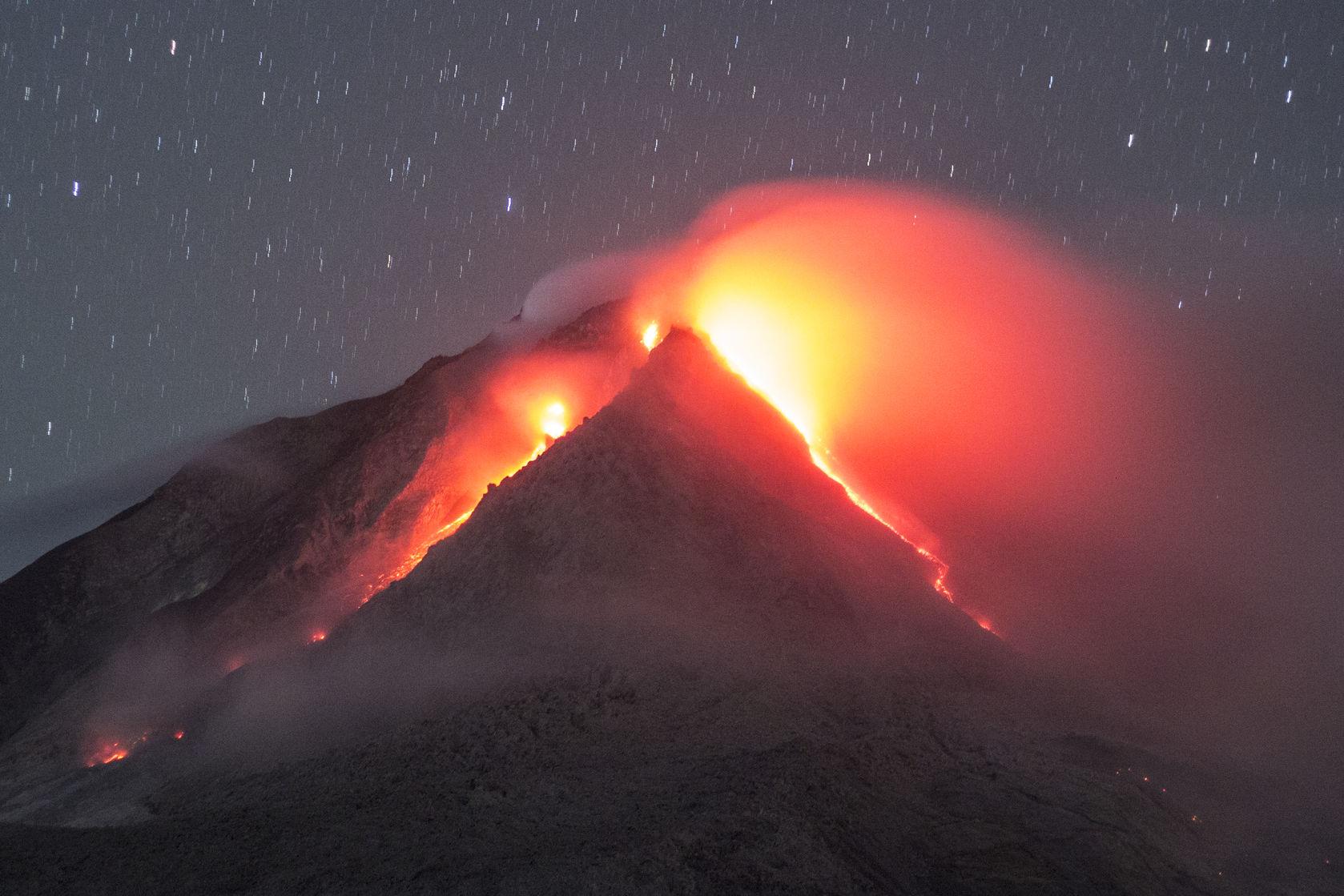 Volcan Sinabung, Indonésie