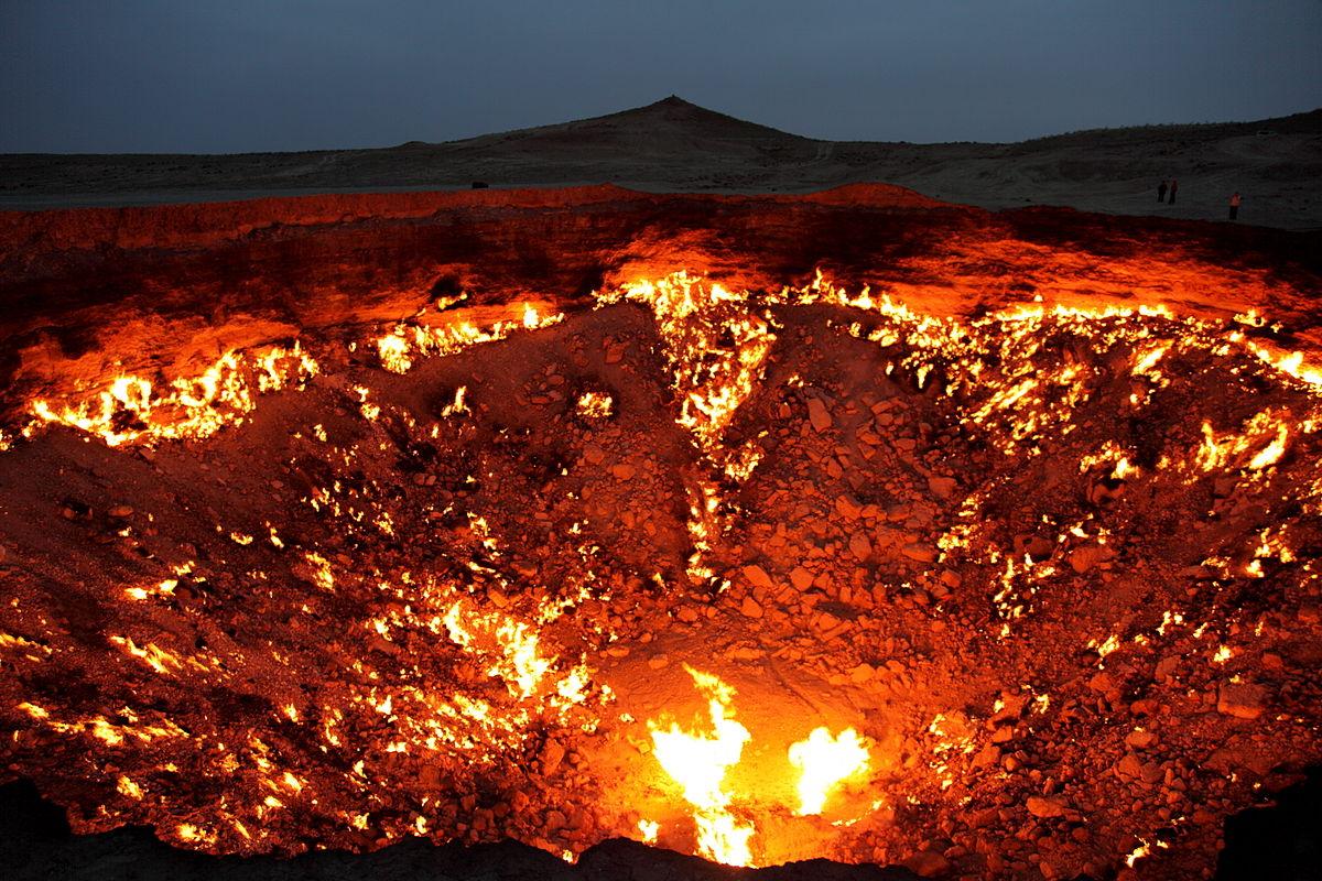 porte de l'Enfer au Turkménistan