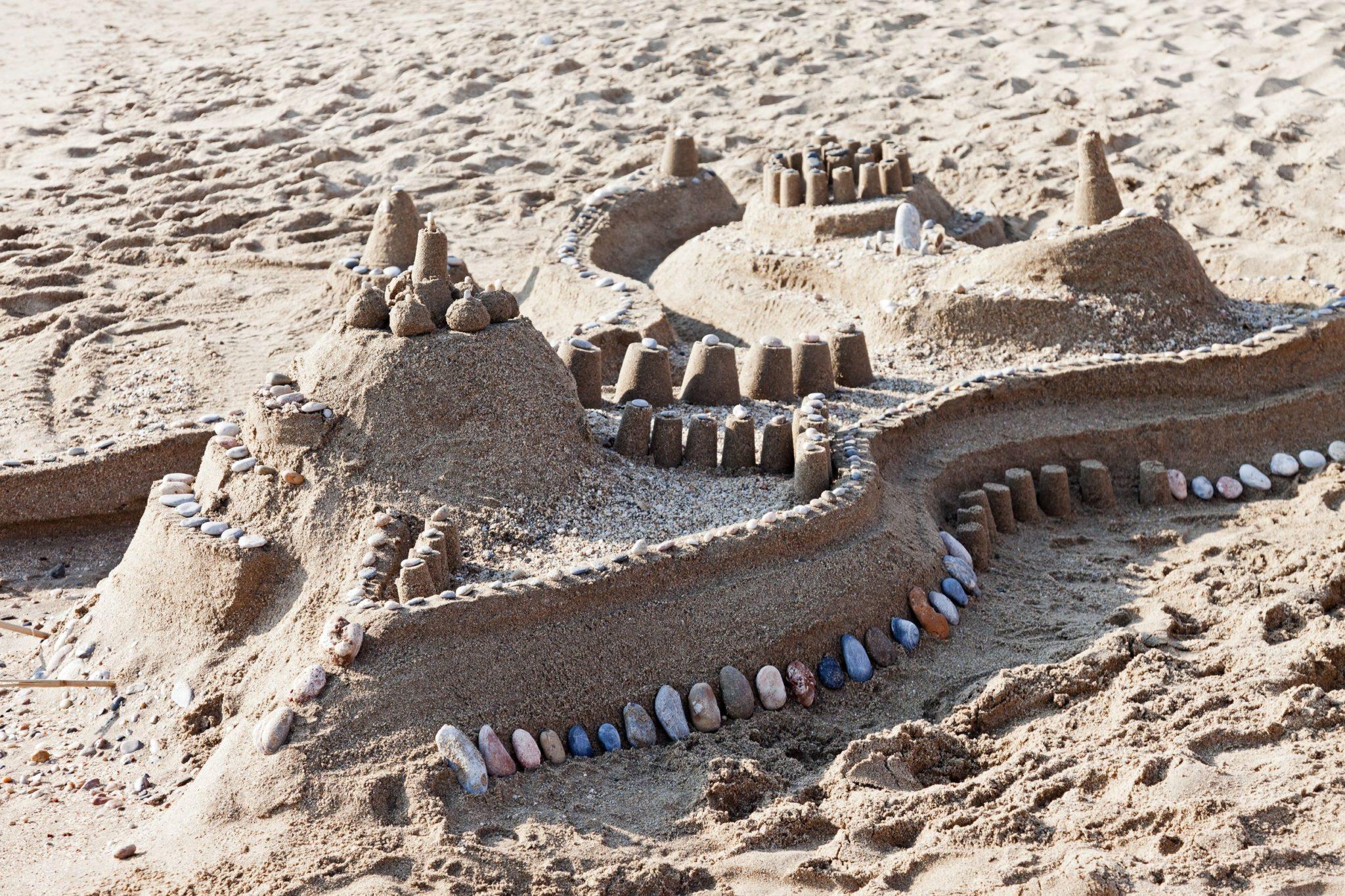 chateau de sable sur la plage