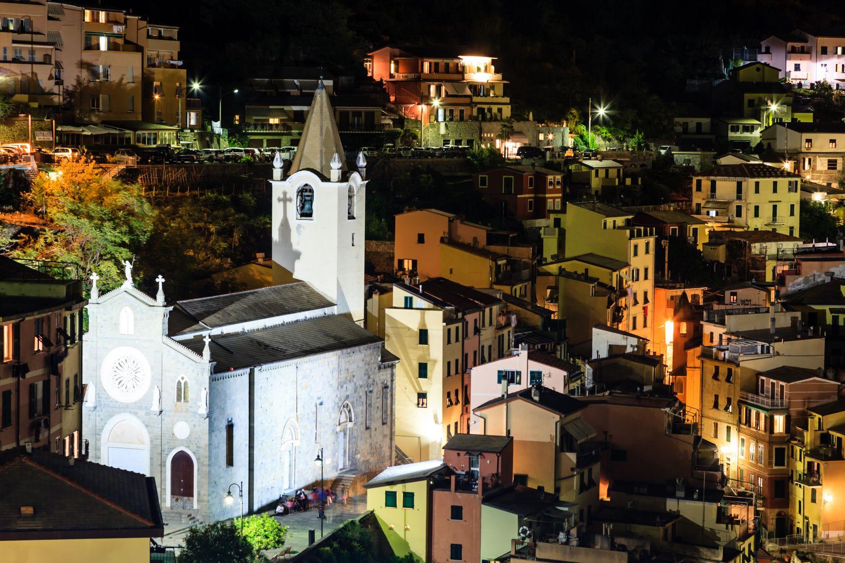 Église, Riomaggiore la nuit