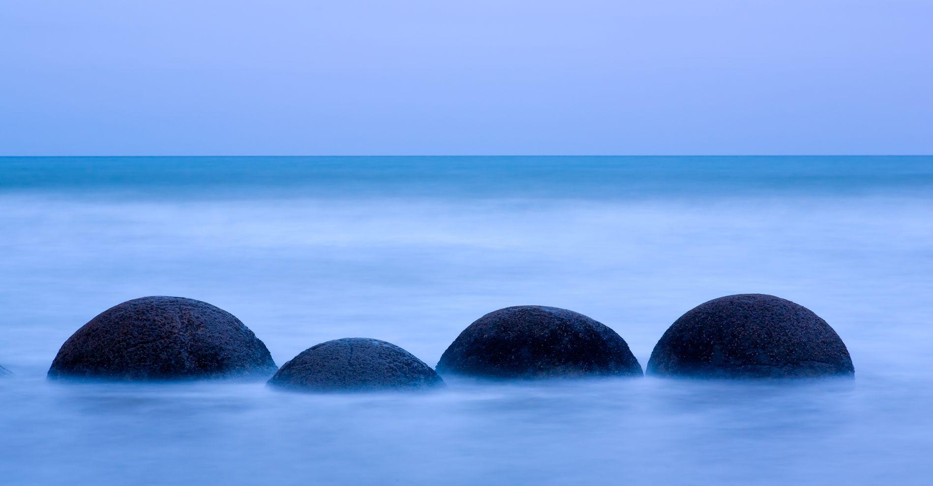 Les Boulders Moeraki, Nouvelle Zélande