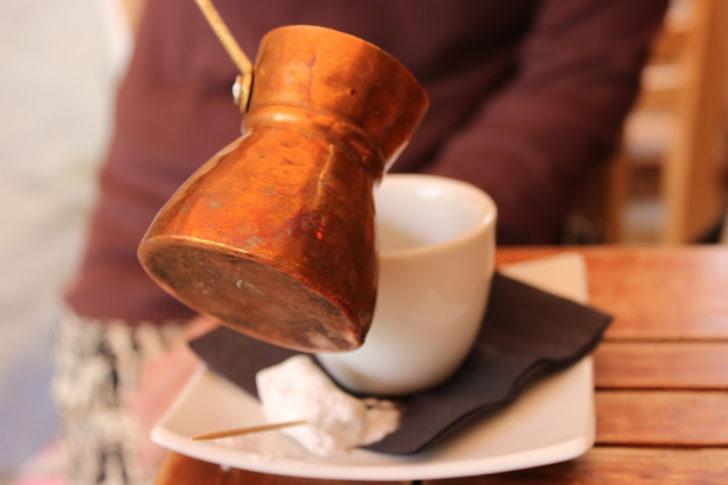 Le café grec ou turc à Corfou