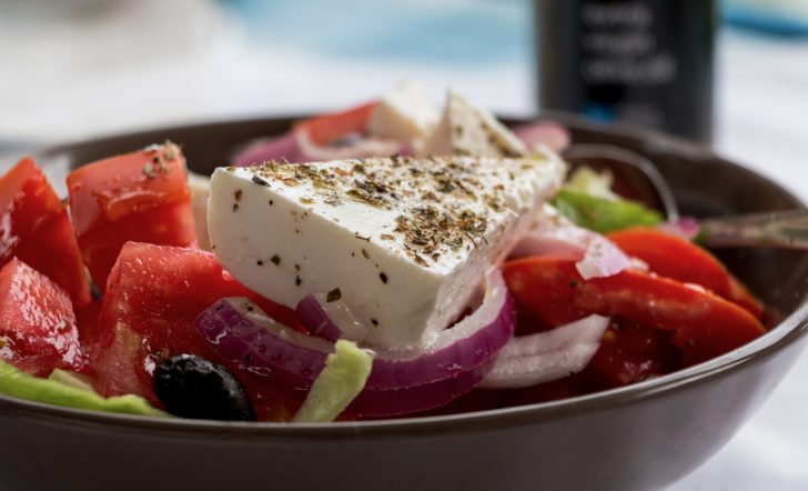 La salade grecque à la fêta