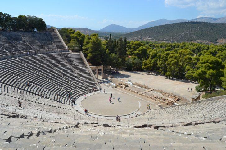 Le théâtre d'Épidaure en Grèce