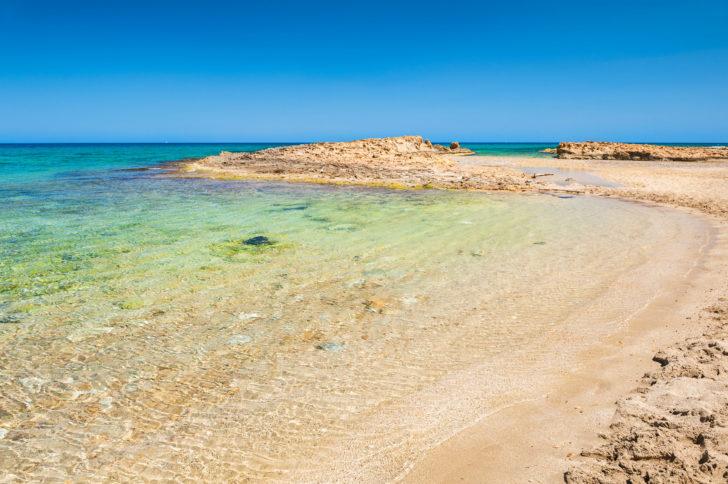 La plage de Malia en Grèce