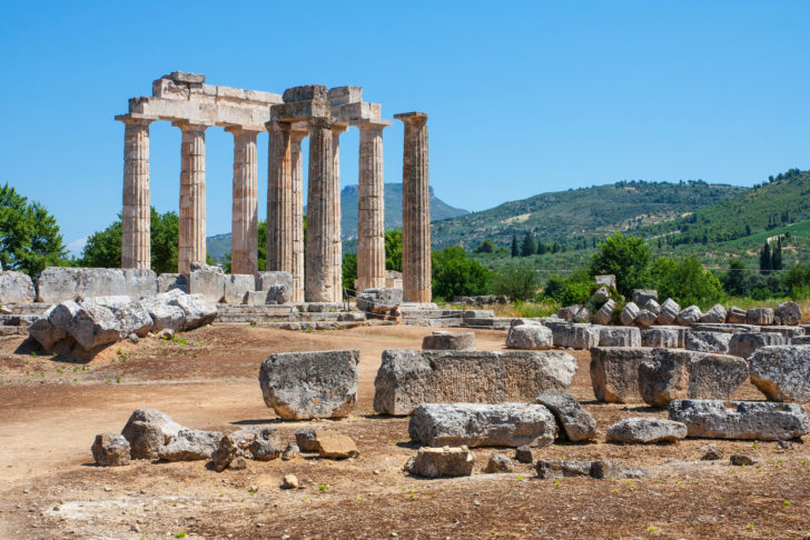 Le site de Némée en Grèce