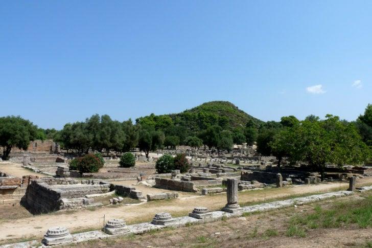 Le site d'Olympie en Grèce