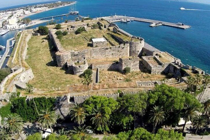 Le fort Neratzia de la ville de Kos
