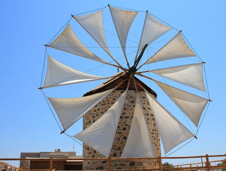 Le moulin à vent d'Antimachia à Kos