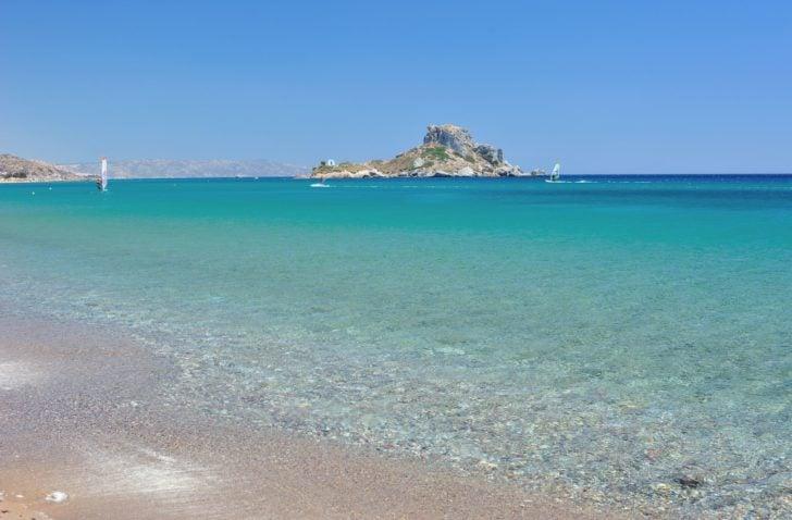 Une belle plage à Kos