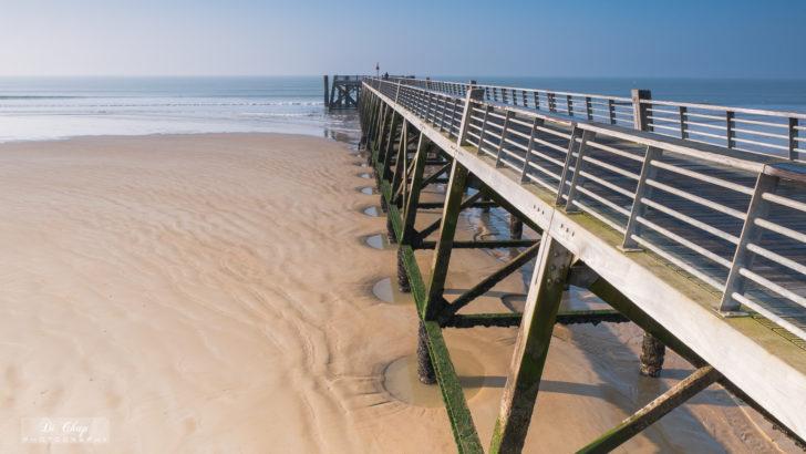 L'estacade sur la plage de Saint jean de Mons