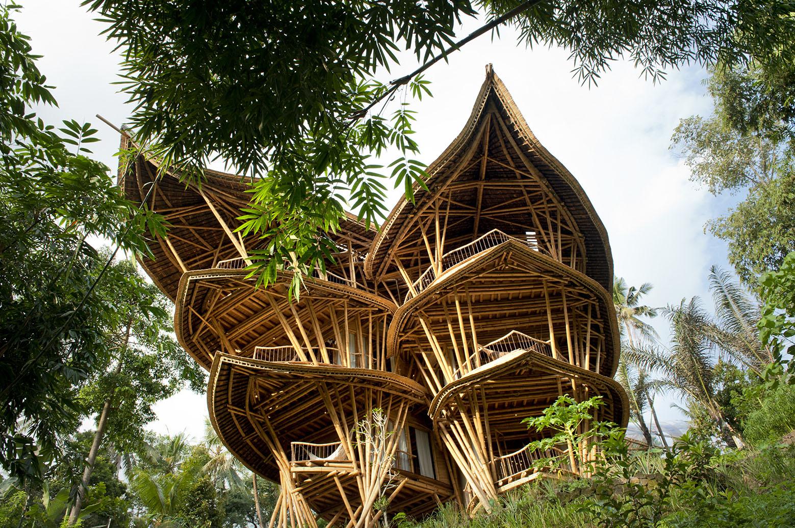maison en bambou à Bali