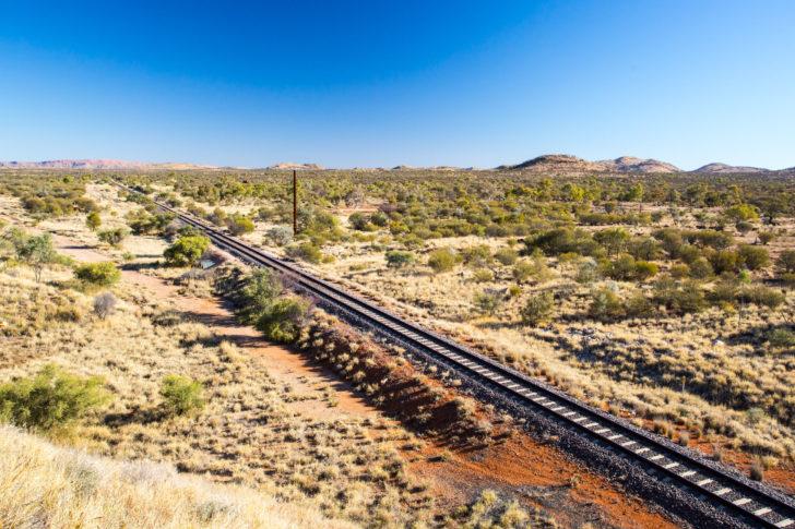 Le chemin de fer Ghan en Australie