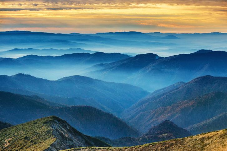 Les Montagnes bleues en Australie