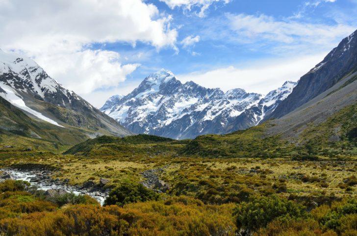 Aoraki Mont Cook en Nouvelle-Zélande