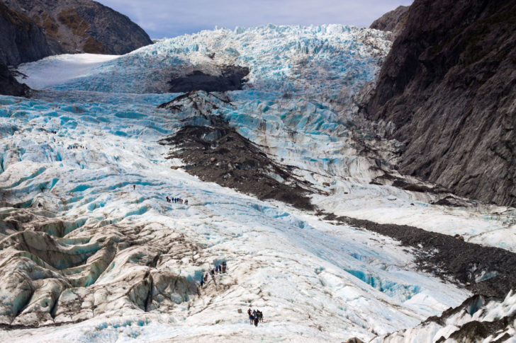Le glacier Frans Jozef en Nouvelle-Zélande