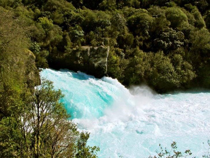Les Huka Falls en Nouvelle-Zélande
