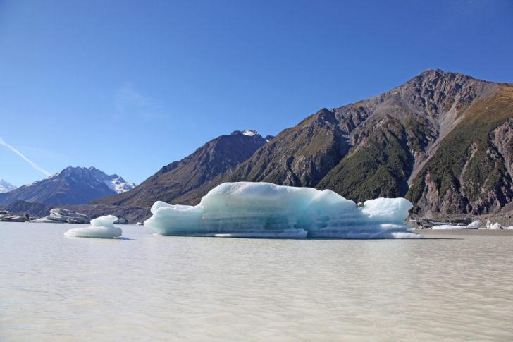 Le Lac Tasman en Nouvelle-Zélande