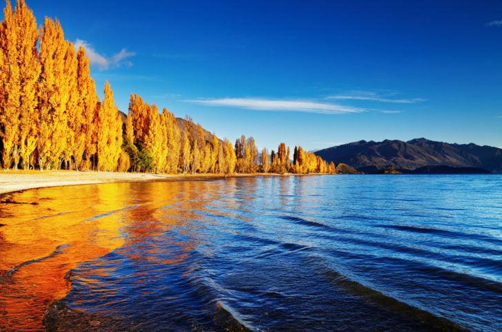 Le lac Wanaka en Nouvelle-Zélande
