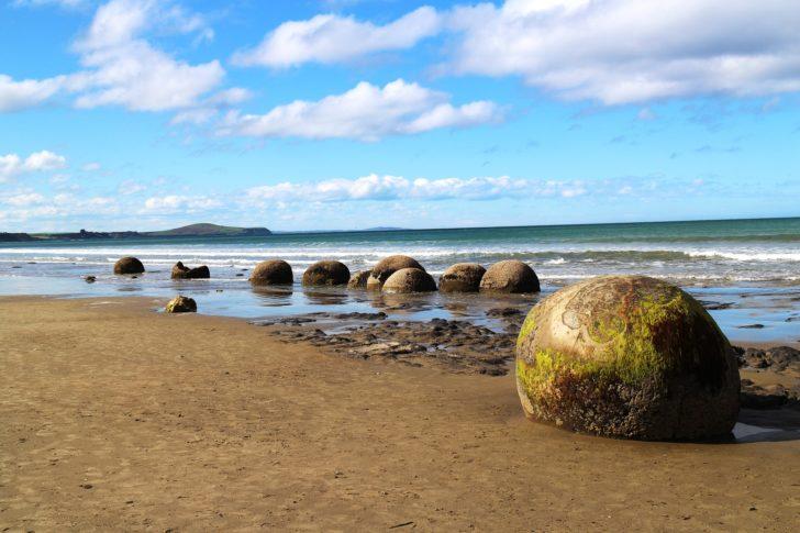 Les Moeraki Boulders en Nouvelle-Zélande