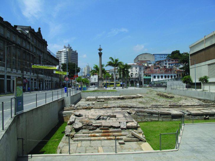 Site archéologique du quai de Valongo - Vue frontale