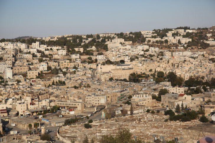 Vue générale de la vieille ville d'Hébron