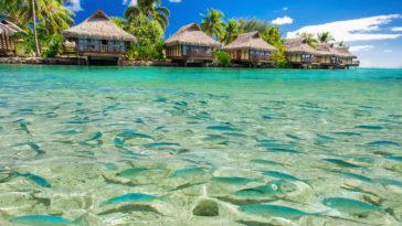 Hôtel sur pilotis à Bora Bora