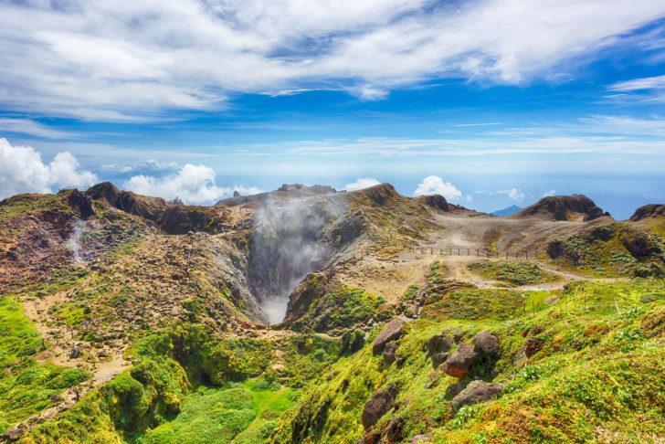 Le volcan la Soufrière en Guadeloupe