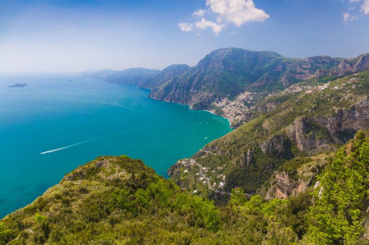 Le Chemin des dieux à Positano en Italie
