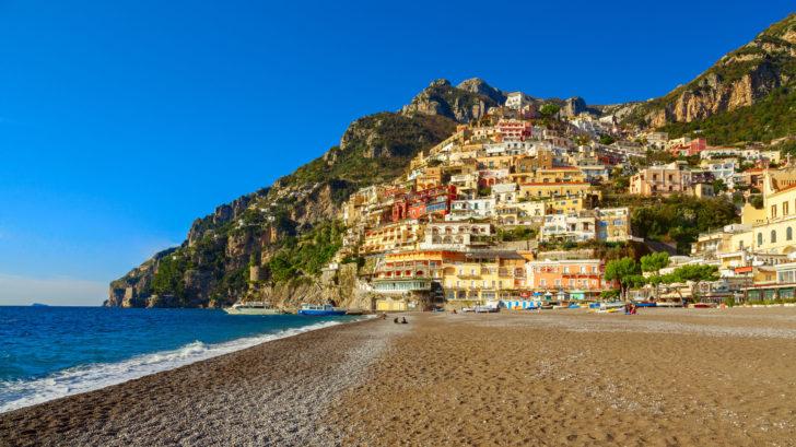 Les plages à Positano en Italie