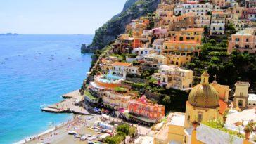 Rues colorées à Positano en Italie