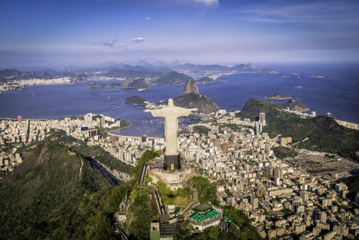 La Baie de Guanabara au Brésil
