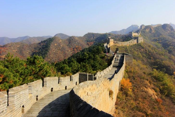 La muraille de Chine en automne