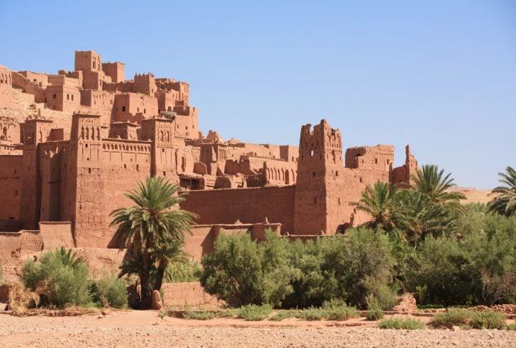 Cité près de Ouarzazate au Maroc