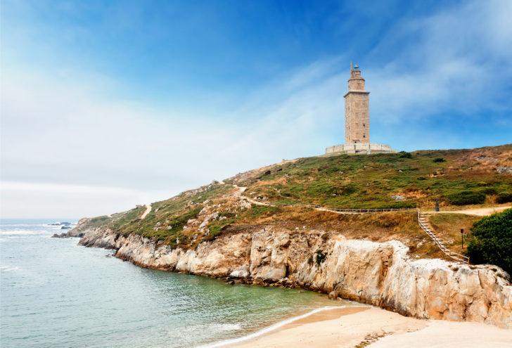 La Tour d'Hercule en Espagne, le plus ancien des phares