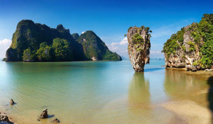 La baie de Phang Nga en Thaïlande