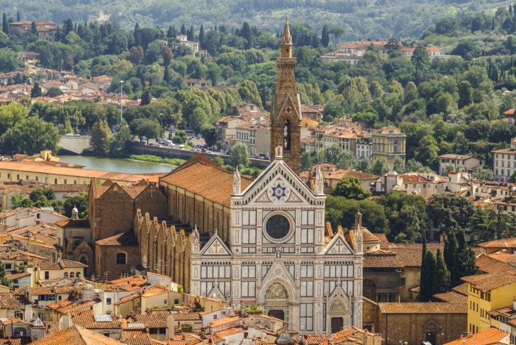 La basilique Santa Croce à Florence