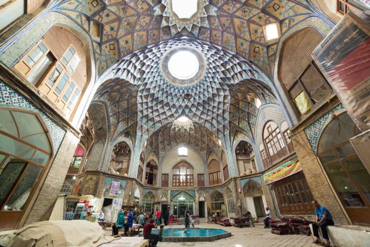 Le bazar de Kashan en Iran